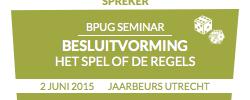 spreker op BPUG seminar 2015